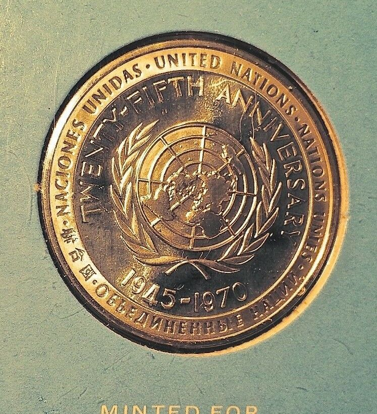 Franklin Mint United Nations 25th Anniversary Sterling
