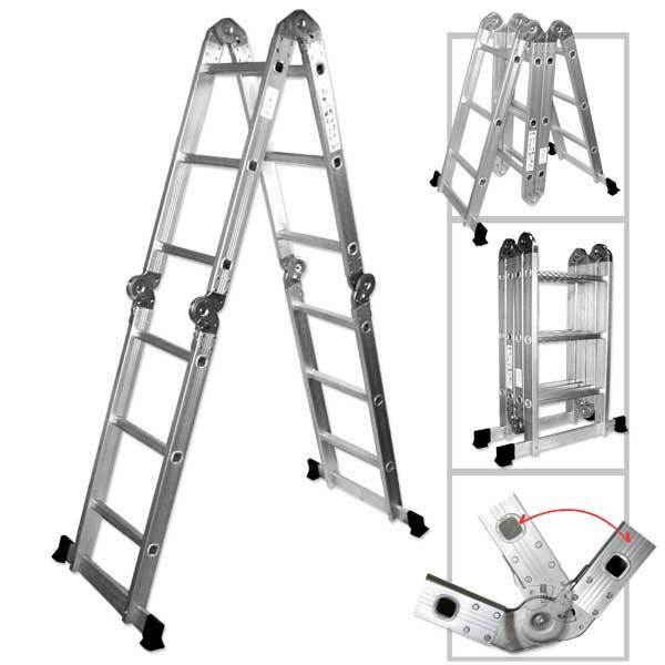 6ft Multi Purpose Step Ladders : Ft heavy duty multi purpose aluminum ladder folding