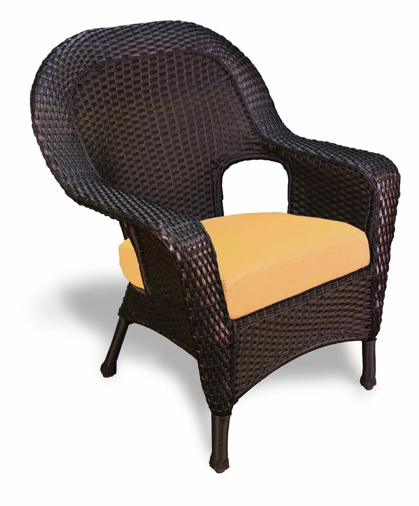 Outdoor Patio Garden Furniture Tortoise Resin Wicker Dining Chair Ebay