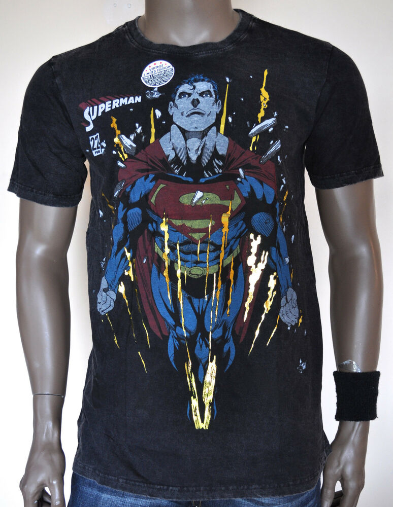 Official superman man of steel gold vintage limited for Man of steel t shirt online