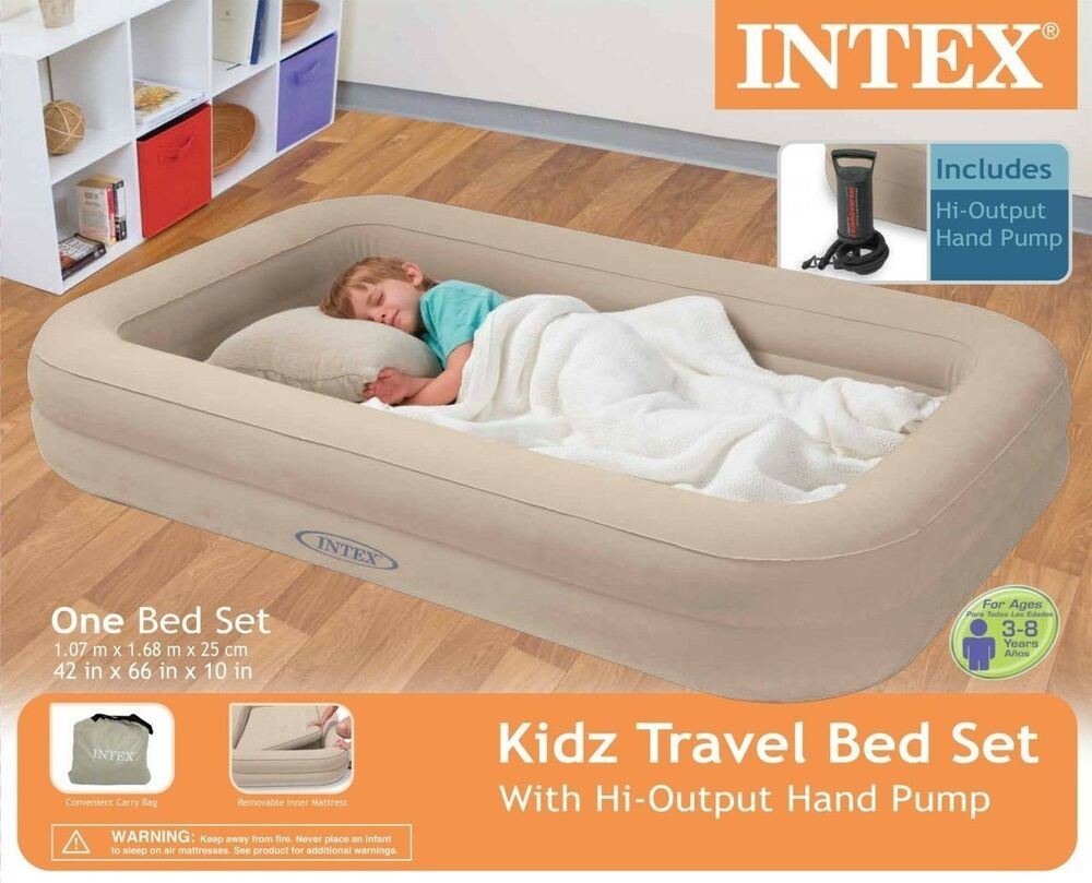 Intex travel bed kids child inflatable airbed toddler for Portable bed ideas