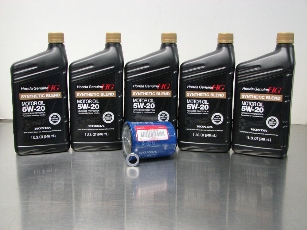 Genuine honda 5w 20 synthetic blend oil change kit w a01 for How to change to synthetic motor oil