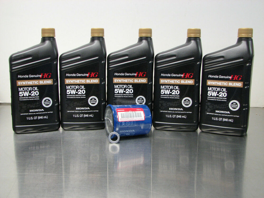 Genuine honda 5w 20 synthetic blend oil change kit w a01 for Synthetic motor oil change