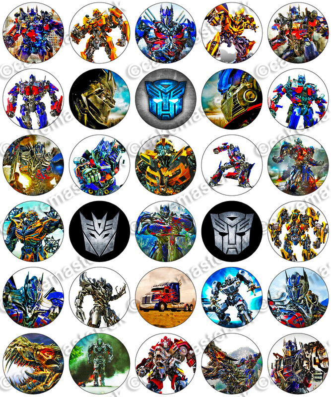 30 X Transformers Party Collection Edible Rice Wafer Paper