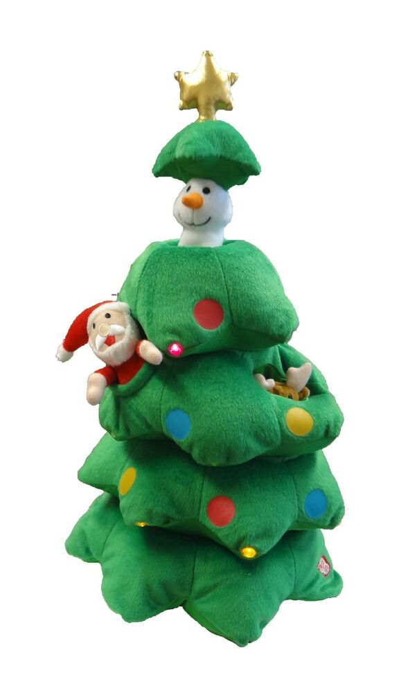 Christmas Tree With Toys : Singing christmas tree animated plush toy musical reindeer