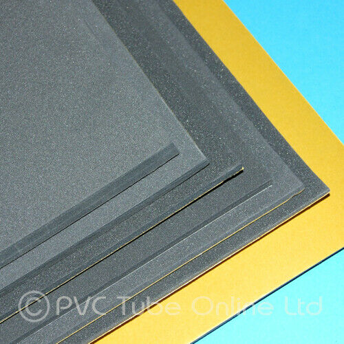 Foam Sheet Sponge Rubber Grey Extra Sticky Self Adhesive