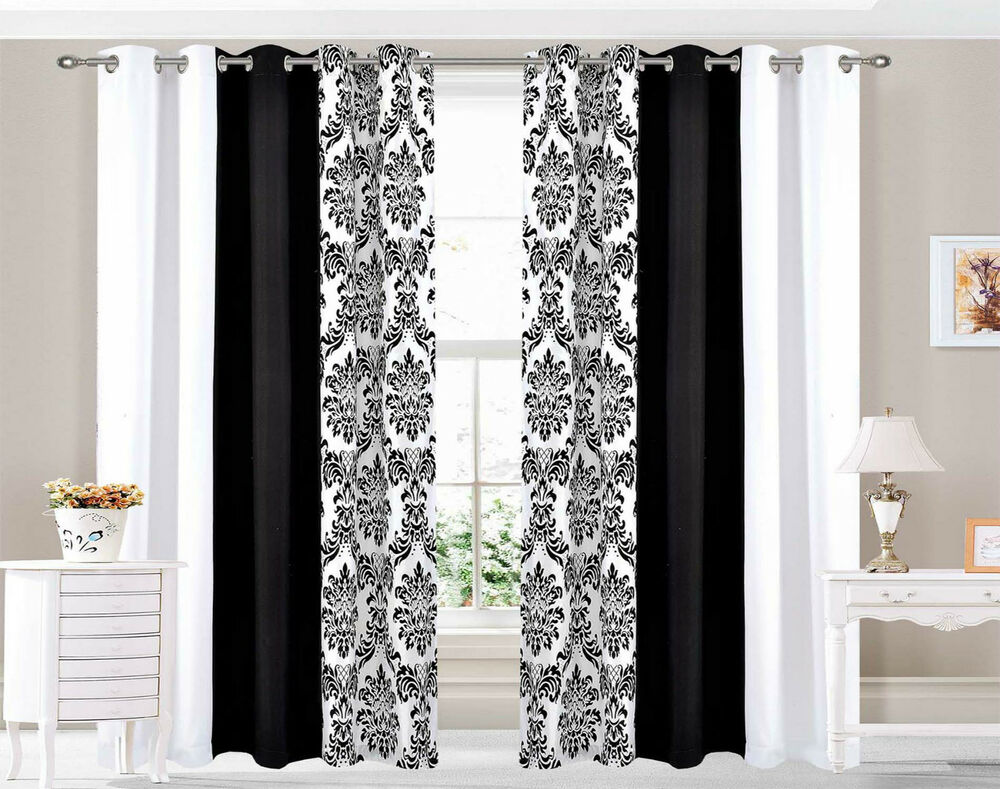 Eyelet Curtains Ring Top Fully Lined Pair Ready Made