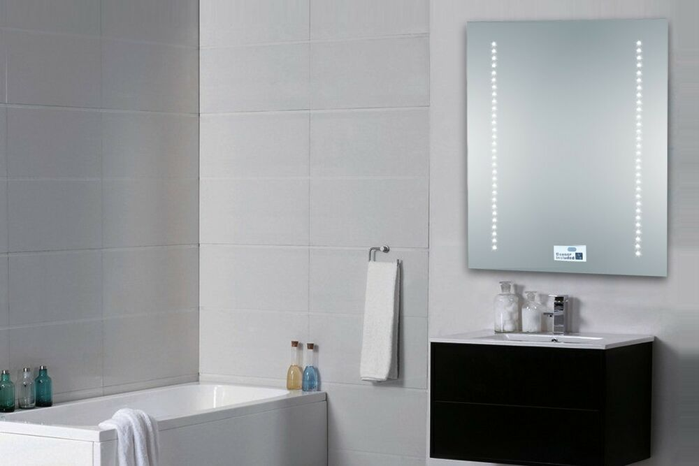 Illuminated Mirrored Bathroom Cabinet Ip44 Rated: LED Illuminated Bathroom Mirror 500 X 390mm Sensor