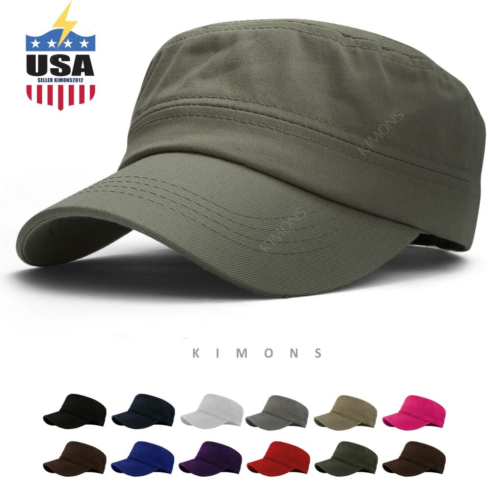 Details about Military Hat Army Cadet Patrol Castro Cap Men Women Golf  Baseball Summer Castro 0e8a8806d4