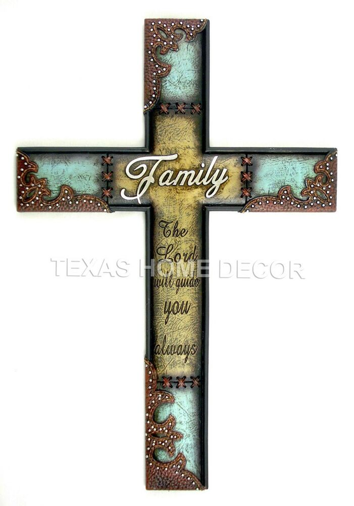 Family Wall Cross Rustic Western Decor The Lord Will