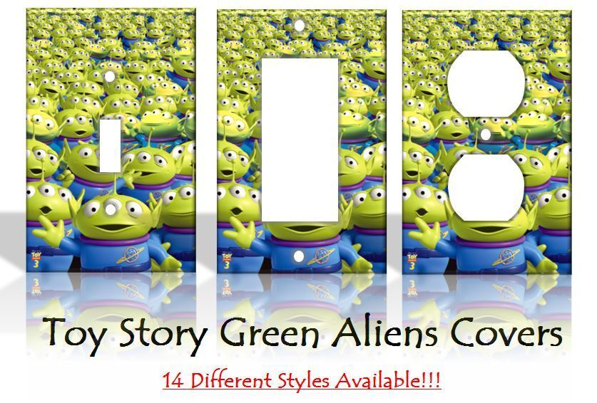 Toy Story Green Aliens The Claw Light Switch Covers Disney