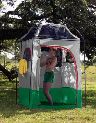 Portable Camping Shower Tent Room Outdoor Privacy Bathroom