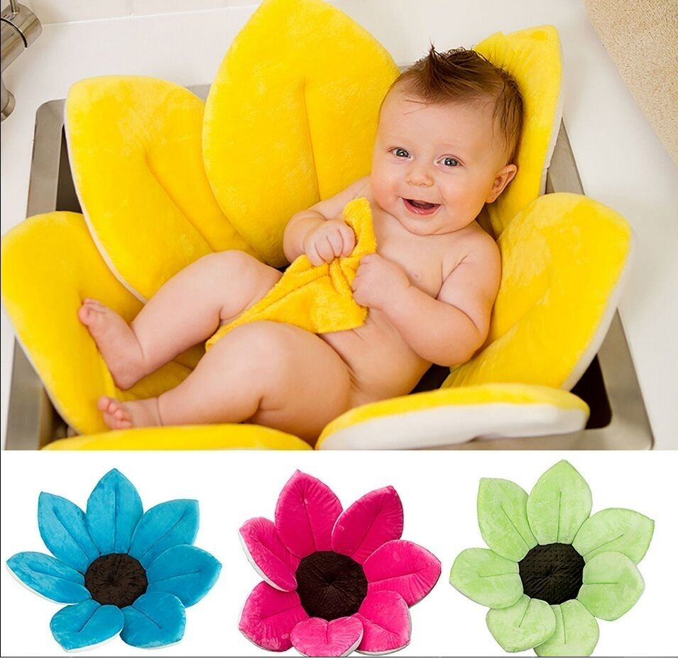 blooming bath baby bathing aid for sink tub or basin ebay. Black Bedroom Furniture Sets. Home Design Ideas