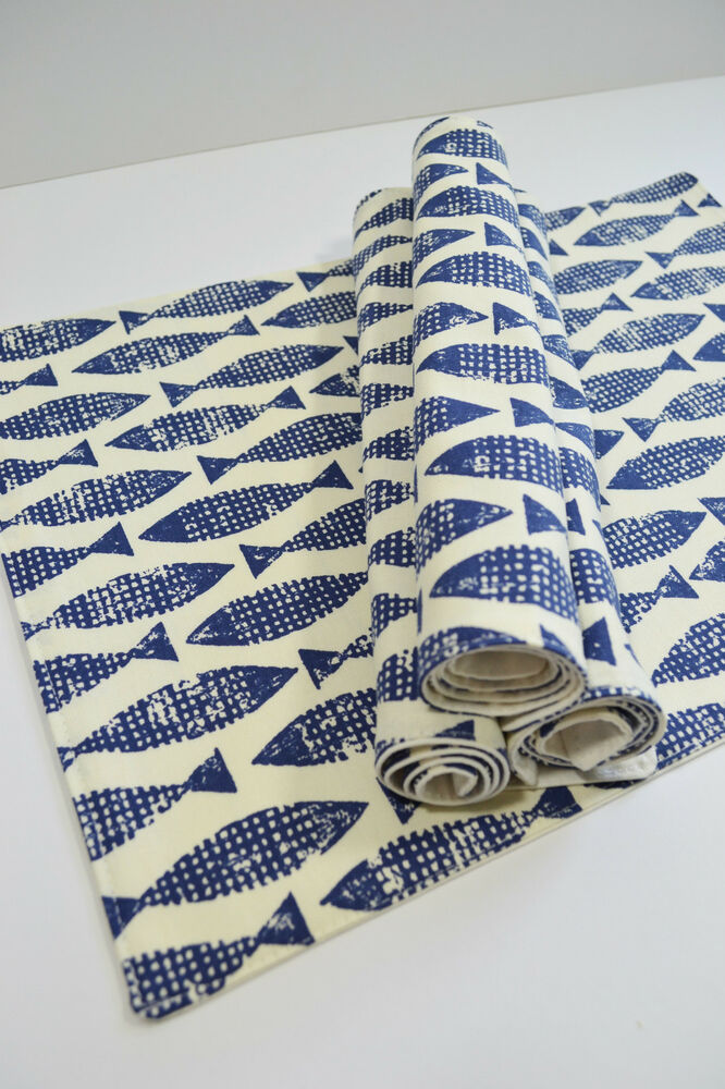 Scion Retro Fish Scandinavian Fabric Table Placemats