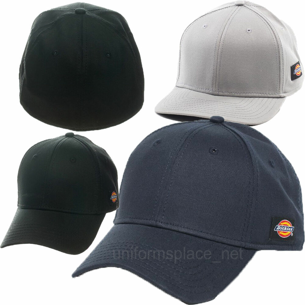 Dickies Hats Traditional Flex Cap Baseball Hat Fitted