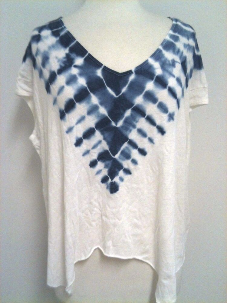 new free people women 39 s boho tie dye a line t shirt top xs