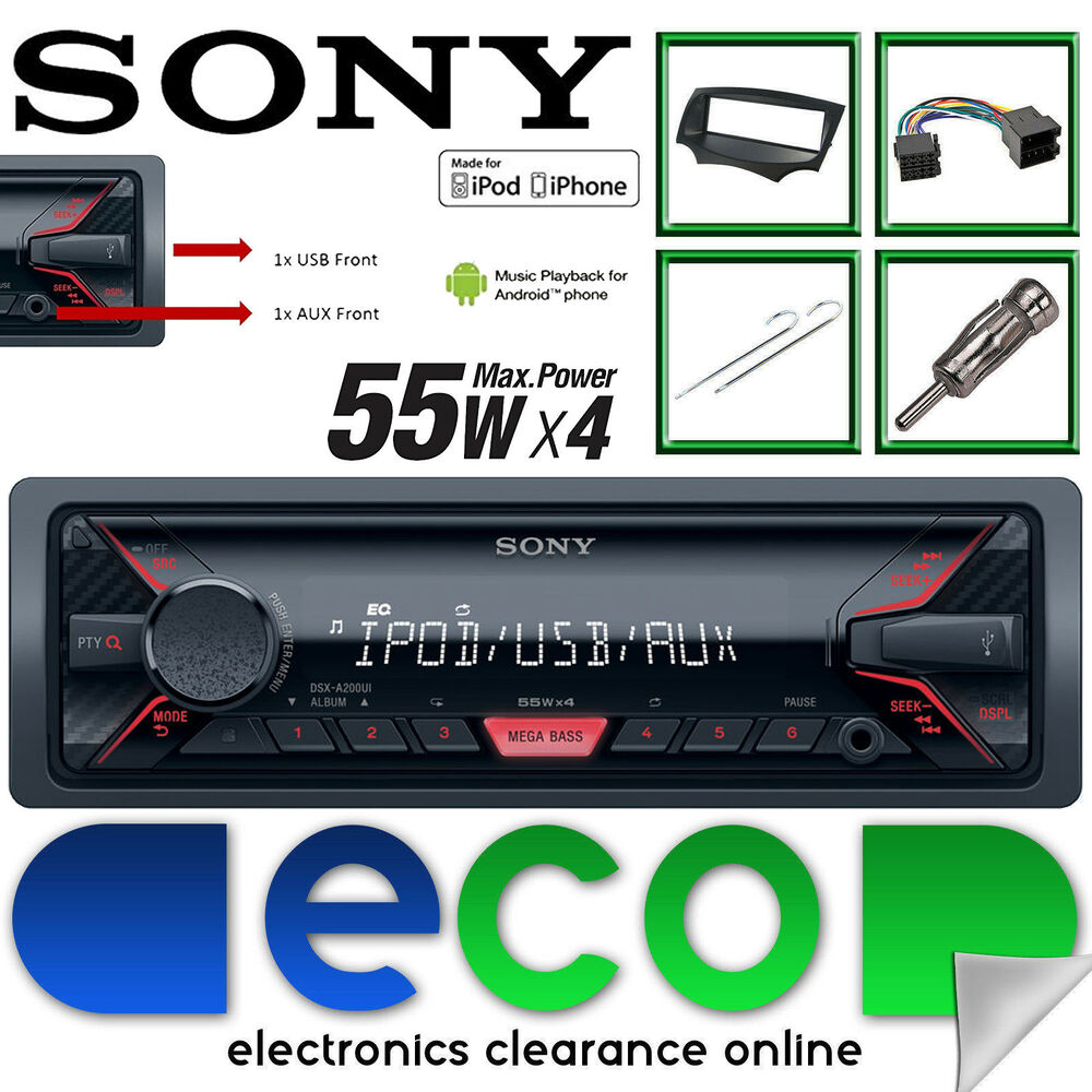 ford ka 2009 14 mk2 sony mechless mp3 usb aux car stereo. Black Bedroom Furniture Sets. Home Design Ideas