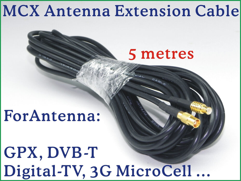 Mcx Antenna Extension Cable 5m 16ft Gps Receiver Digital