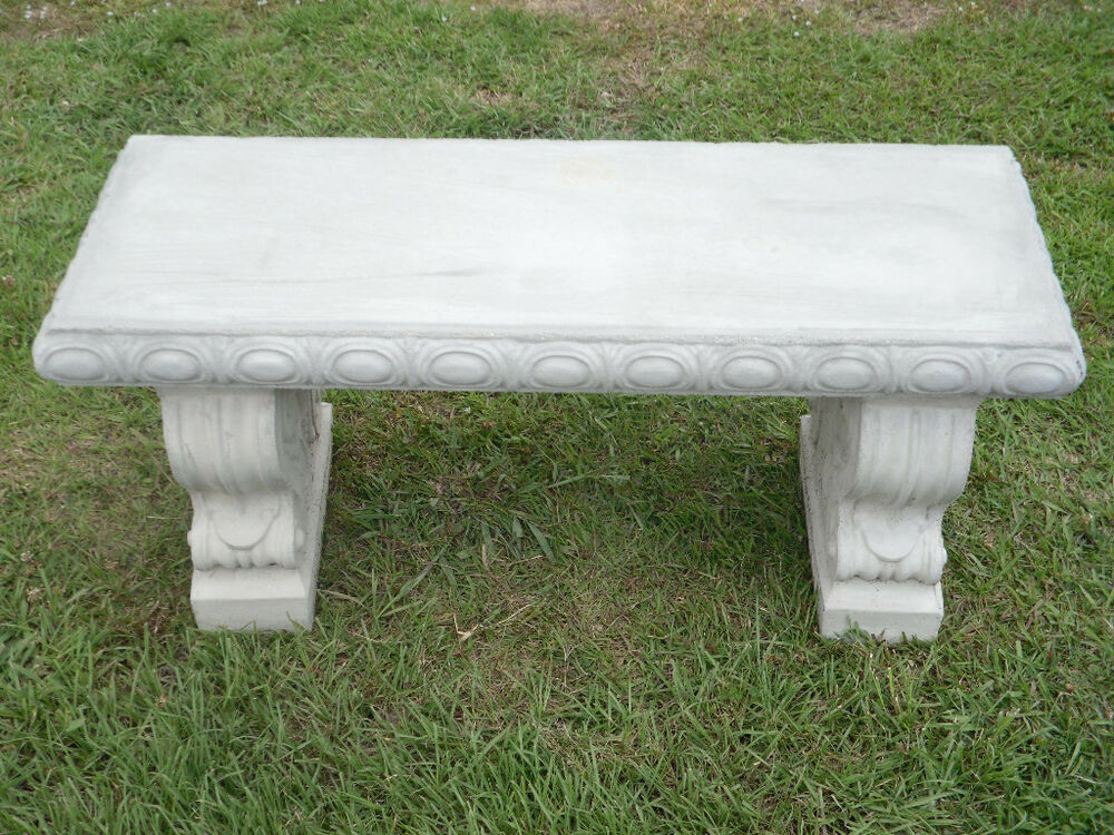 40 Quot Straight Scroll Concrete Patio Bench Ebay