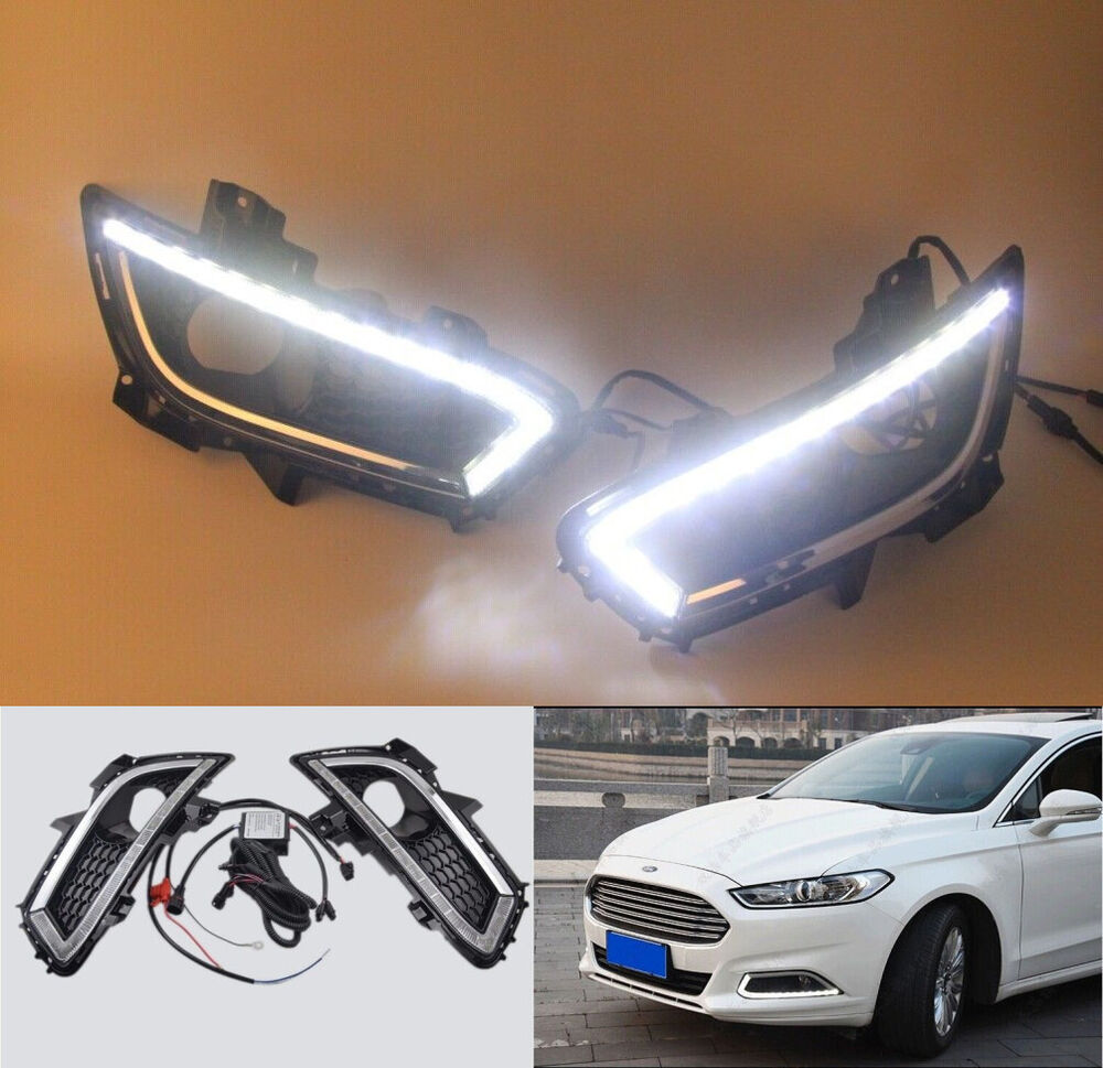 2x For Ford Mondeo Fusion 2013 2014 Led Daytime Running