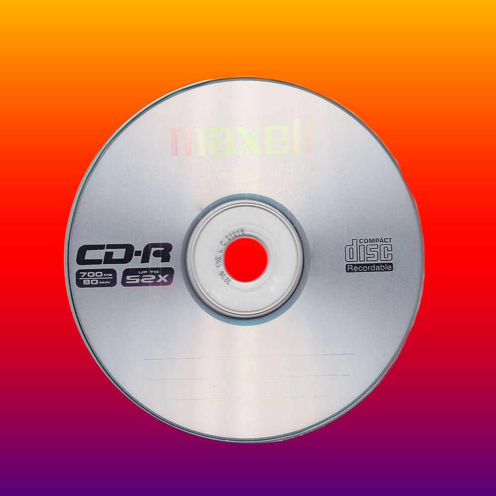 5 maxell cd r cdr 52x blank cd discs in sleeves 700mb ebay. Black Bedroom Furniture Sets. Home Design Ideas