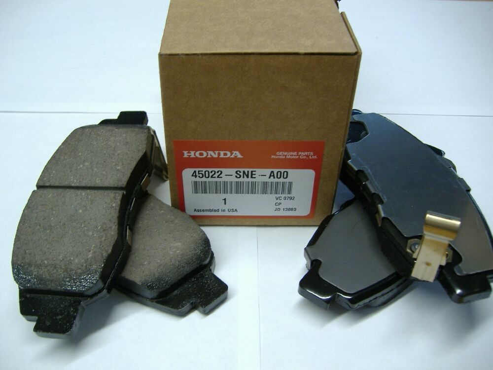 genuine honda civic insight front brake pad set 45022 sne a00 new oem ebay. Black Bedroom Furniture Sets. Home Design Ideas