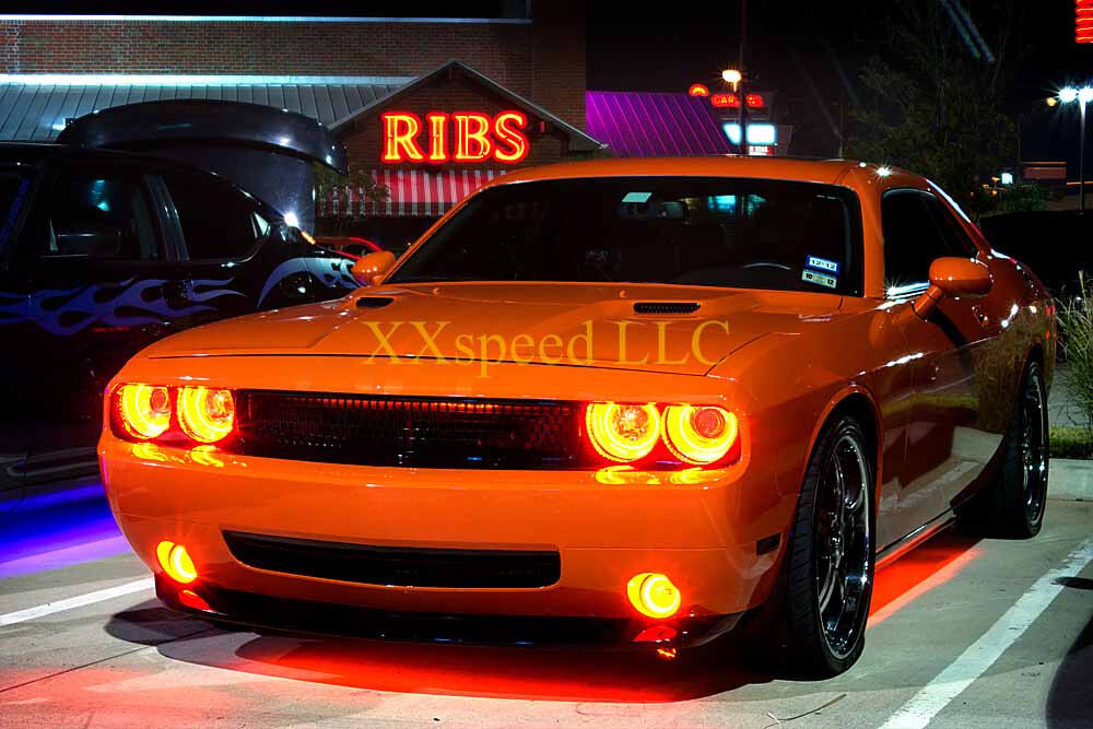 Oracle Dodge Challenger 2008 2014 Amber Led Headlight Halo