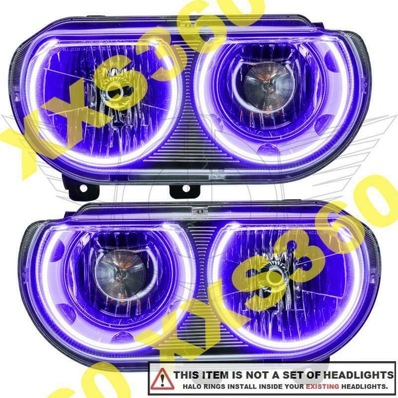 Oracle Dodge Challenger 2008 2014 Purple Led Headlight