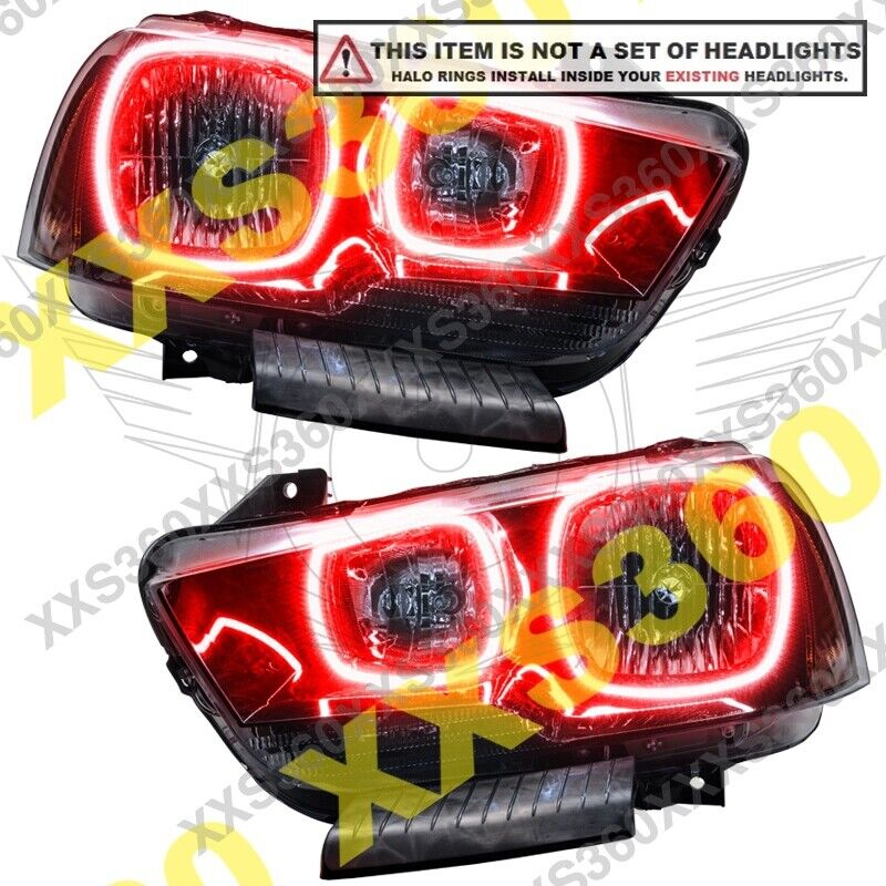 Oracle Dodge Charger 2011 2014 Red Led Headlight Halo