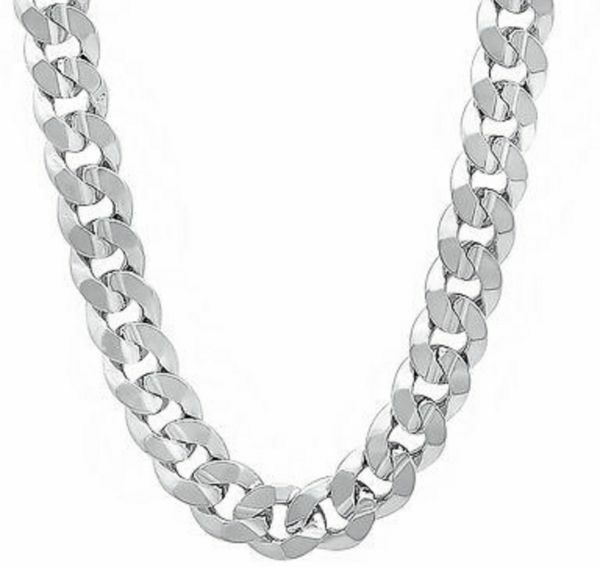 925 Solid Sterling Silver 8mm Cuban Curb Link Chain