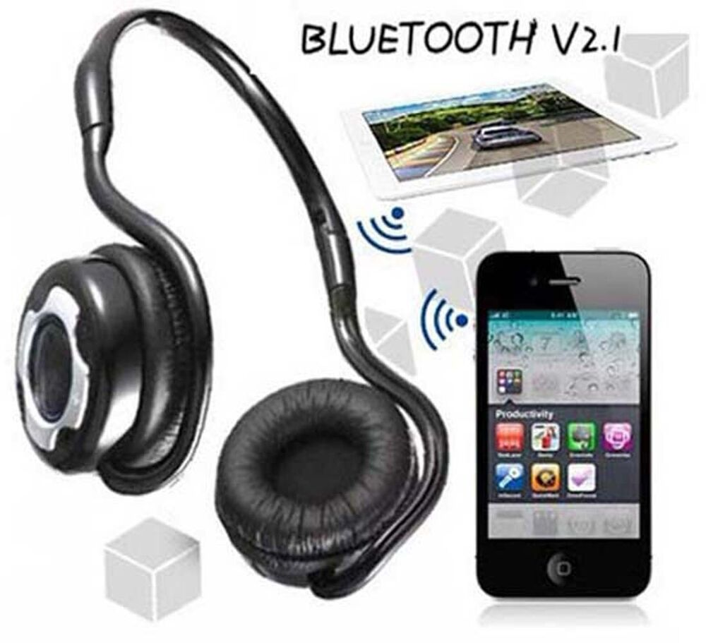 wireless bluetooth stereo kopfh rer headset f r iphone 6. Black Bedroom Furniture Sets. Home Design Ideas