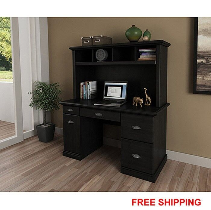 Espresso Corner Desk Bush Cabot L Shaped Desk