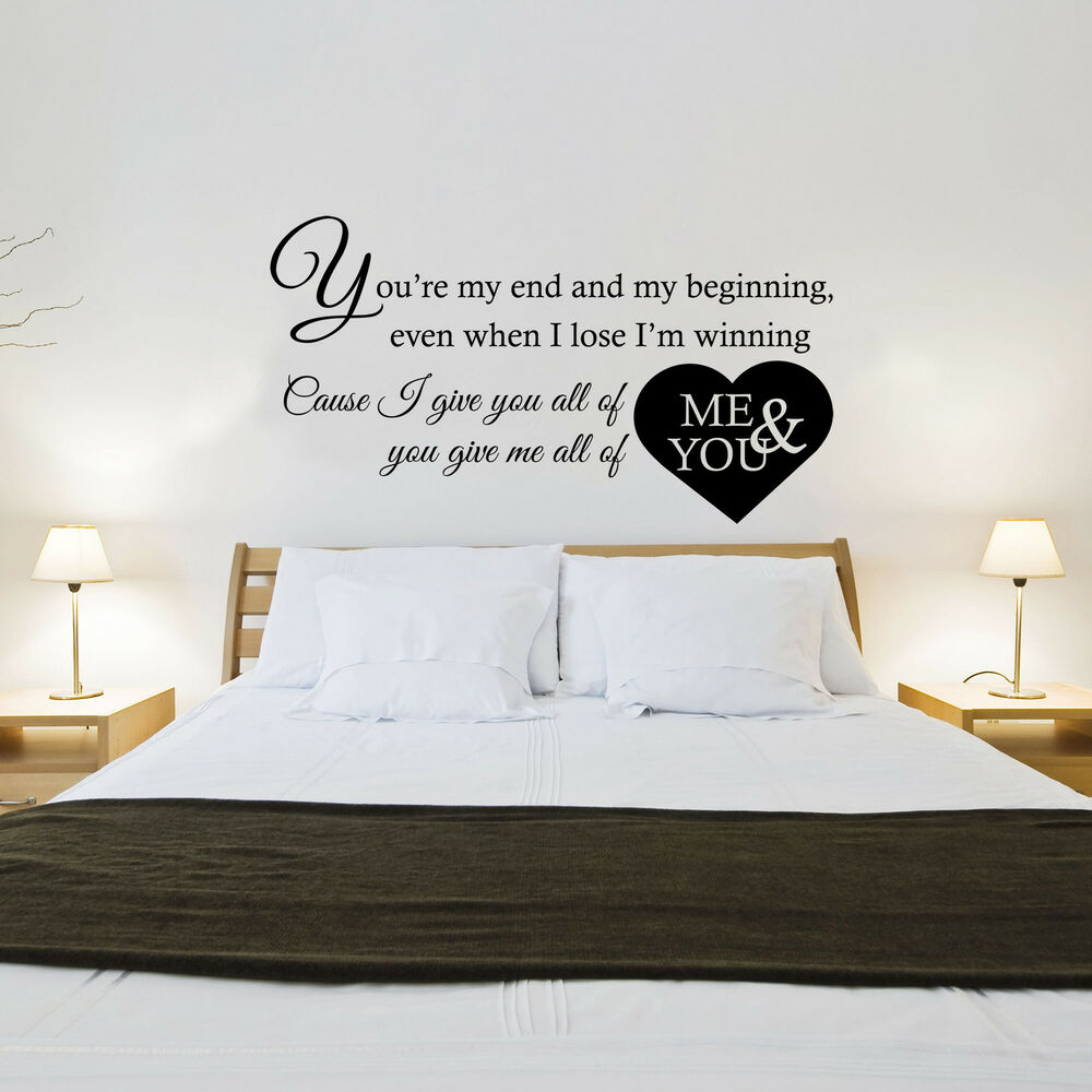 Wall Art Stickers Song Lyrics : John legend all of me song lyrics wall art sticker