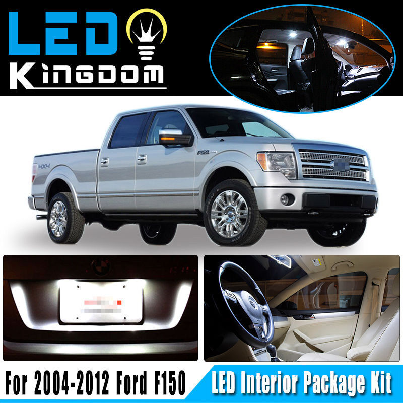 8 X Deluxe White Led Lights Bulbs Interior Package Kit For Ford F150 2004 2012 Ebay