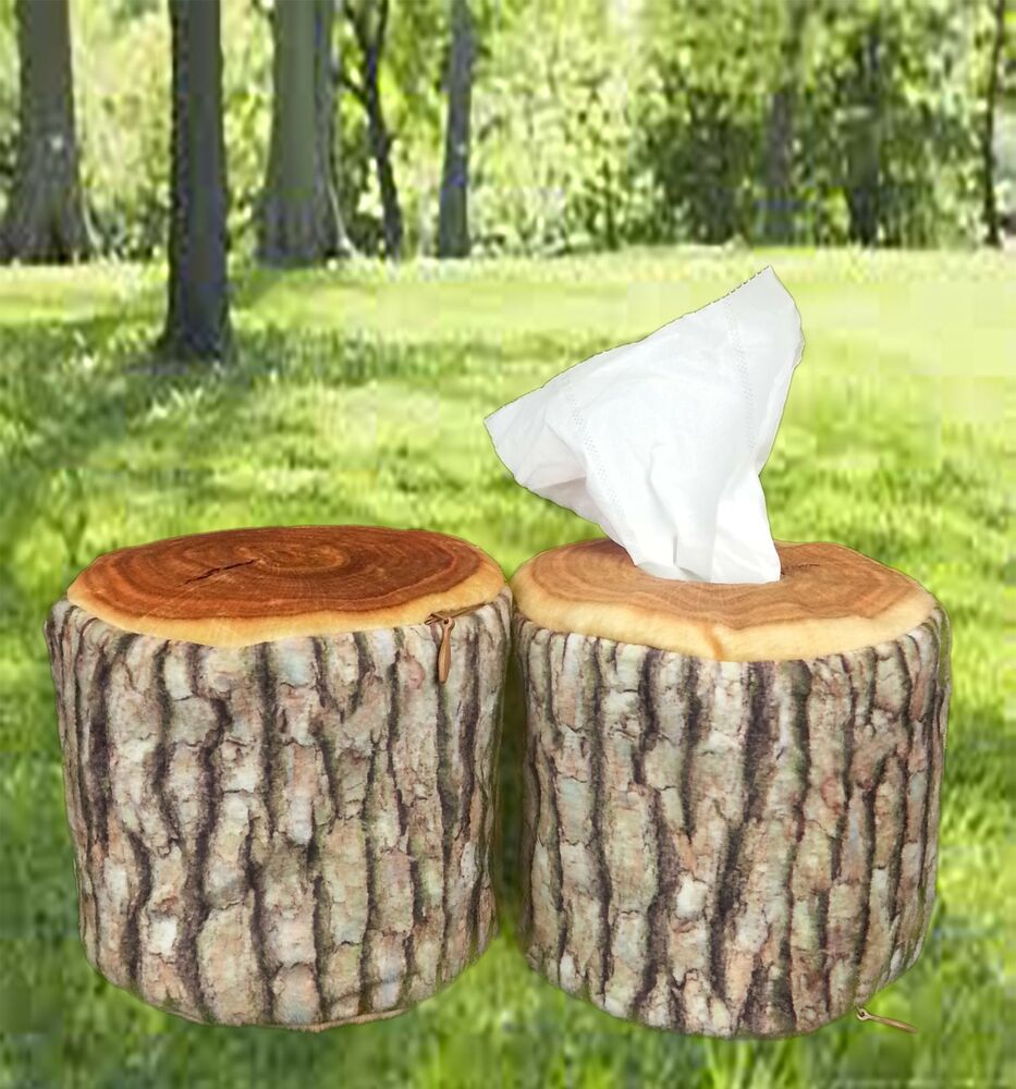Nature tree ring wood log slab soft tissue paper toilet Wood toilet paper holders