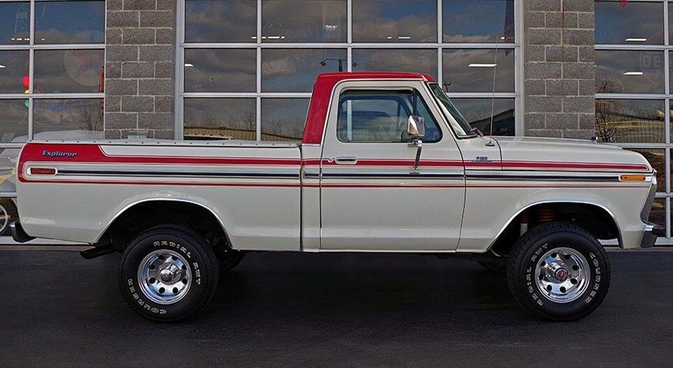 1973 ford truck explorer side stripes graphics decal 3m