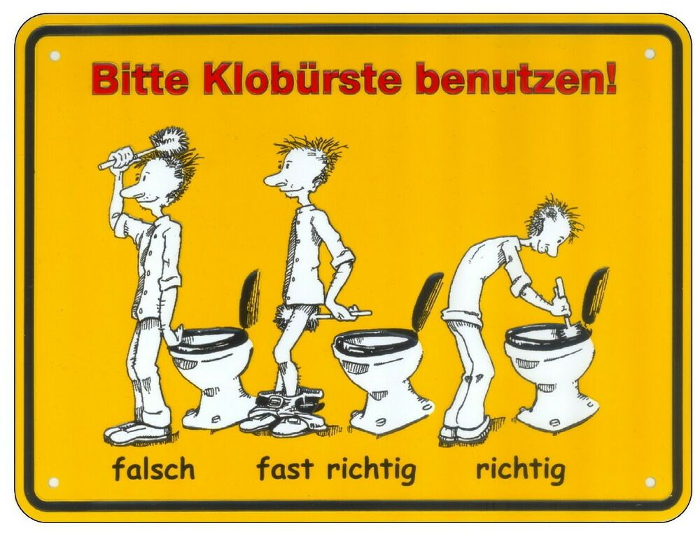 bitte klob rste benutzen x 15 cm t rschild toilette wc schild klo ebay. Black Bedroom Furniture Sets. Home Design Ideas