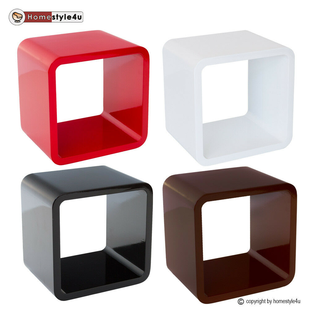 cube wandregal cd regal h ngeregal b cherregal w rfel cubes bunt ebay. Black Bedroom Furniture Sets. Home Design Ideas