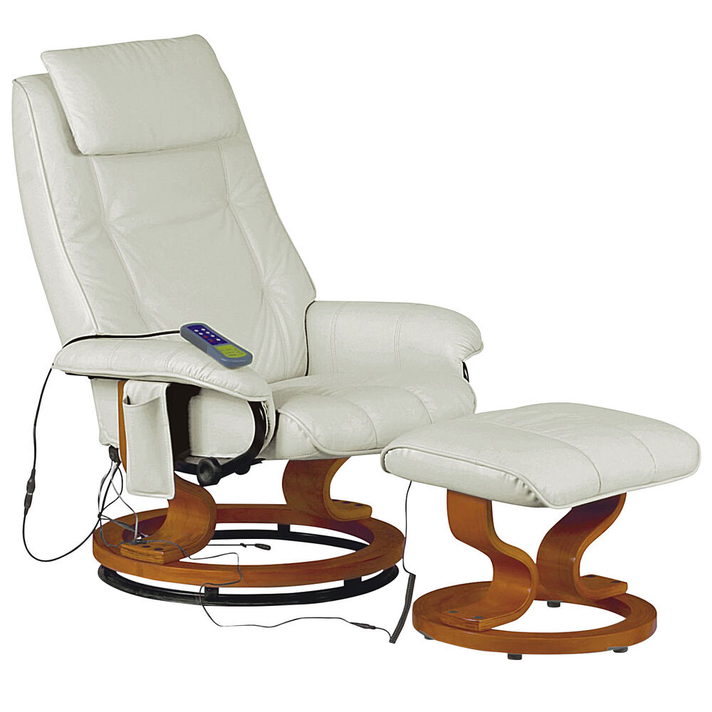 Leather Recliner Reclining Massage Chair Armchair Seat