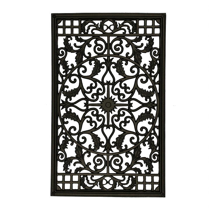 Nuvo Iron Rectangle Decorative Gate Fence Insert Acw61
