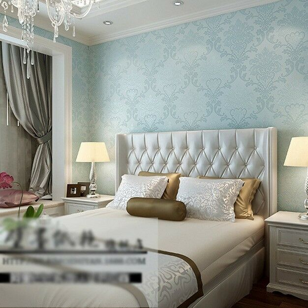 Wall paper 3d wallpaper roll damask non woven embossed for Ebay 3d wallpaper