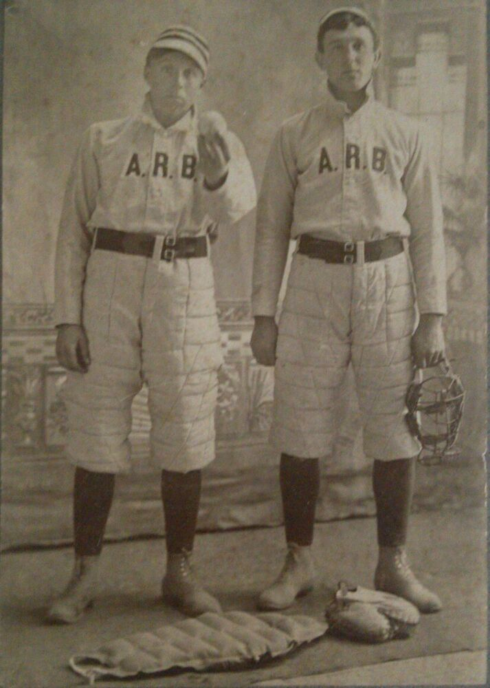 Antique 1800's Baseball Players Cabinet Card Photograph ...