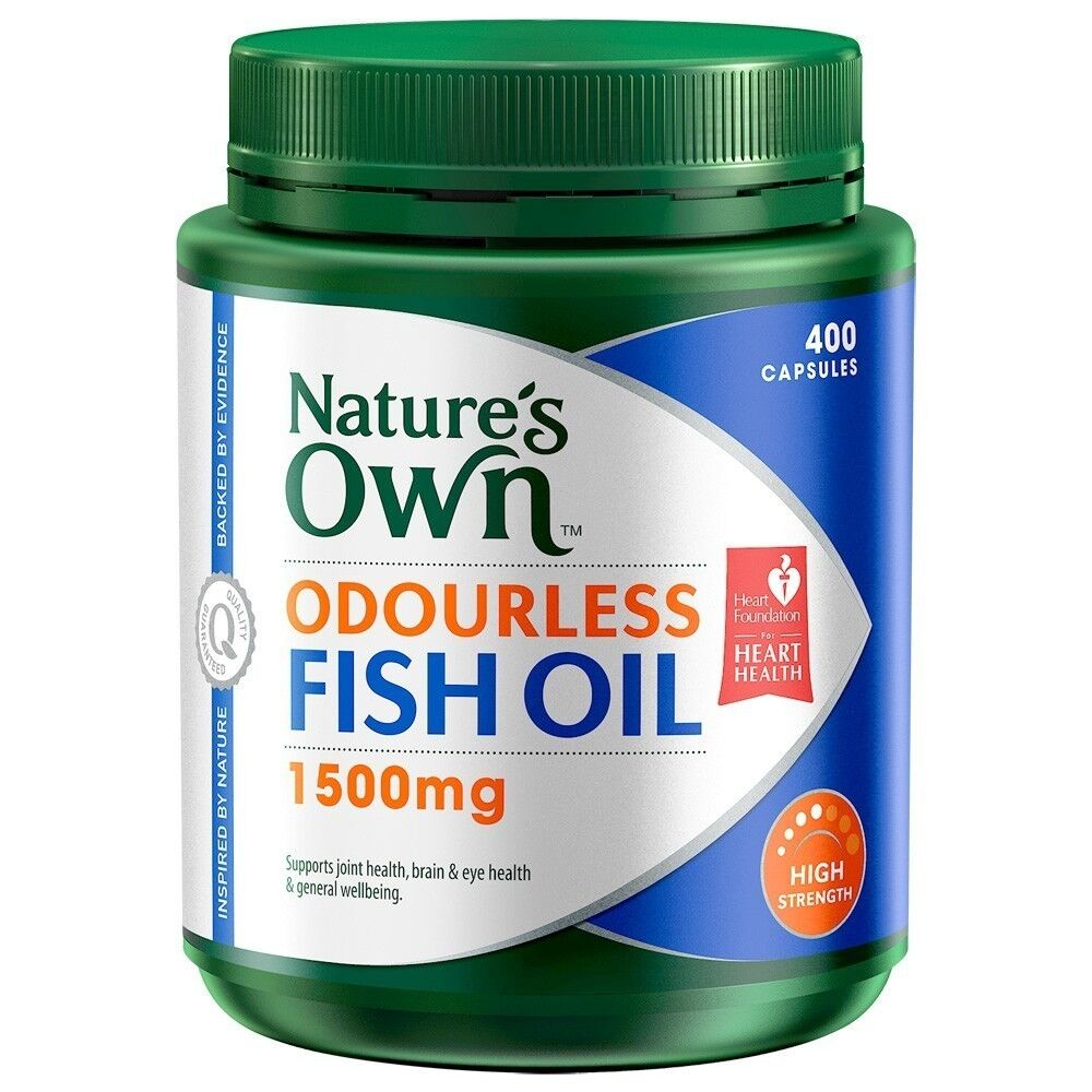 Nature 39 s own odourless fishoil 1500mg 400 capsules ebay for Fish oil capsules
