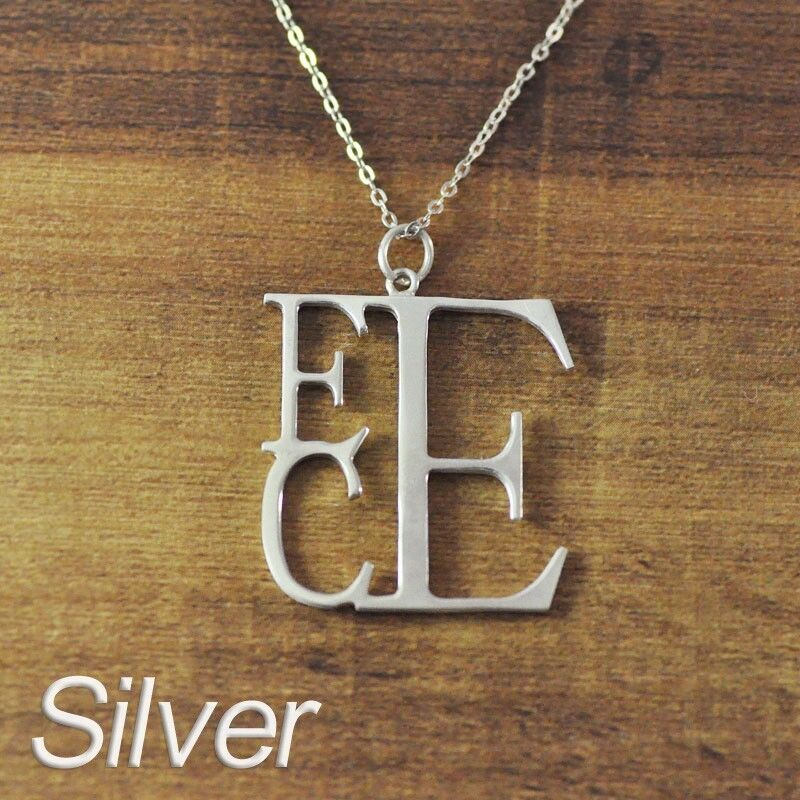 personalized name necklace custom initials 3 letter