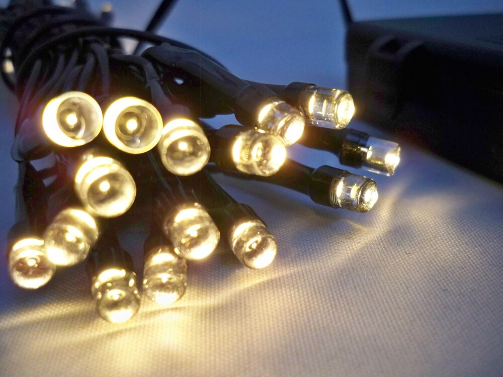 Led String Lights Outdoor Battery : 2 Sets of 30 LED Warm White Outdoor Battery 3M Fairy String Lights Christmas eBay