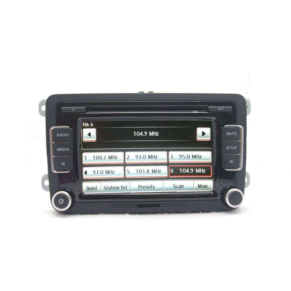 car radio rcd510 aux usb w code for vw golf jetta tiguan. Black Bedroom Furniture Sets. Home Design Ideas