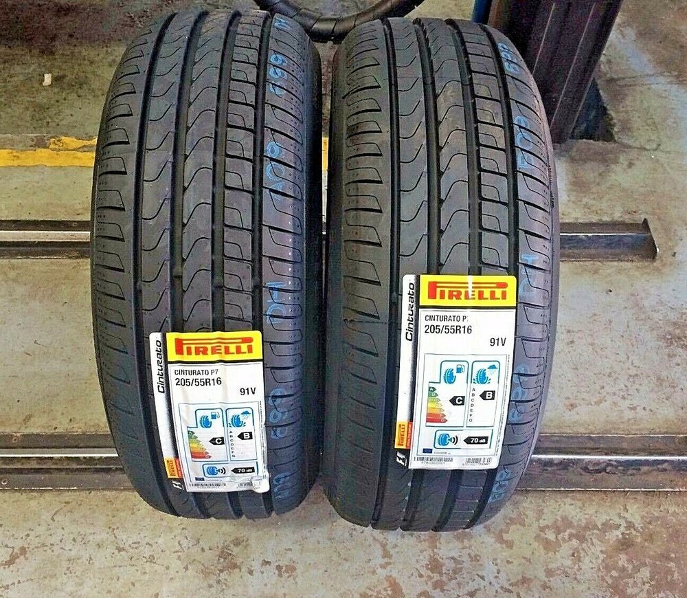 x2 205 55 16 205 55r16 91v pirelli p7 cinturato new tyres very cheap ebay. Black Bedroom Furniture Sets. Home Design Ideas