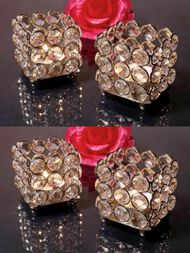 crystal votive tealight candle holder bling candle lamps stand centerpieces ebay. Black Bedroom Furniture Sets. Home Design Ideas