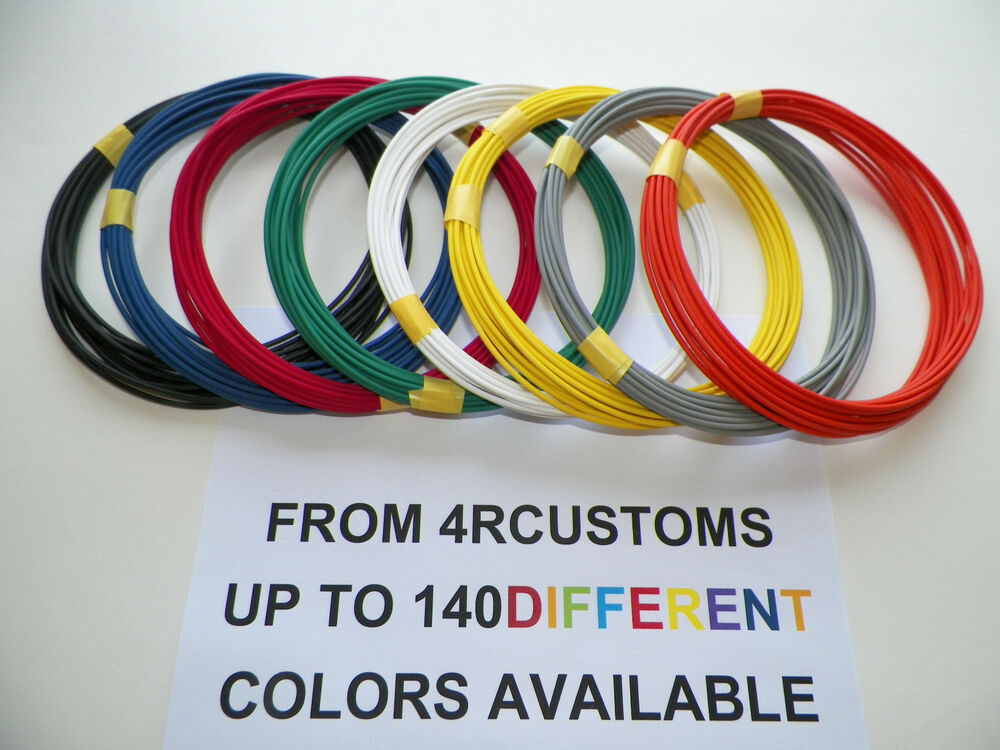 8 Automotive 20 Gauge Txl Wire 8 Colors 25 U0026 39  Each Color