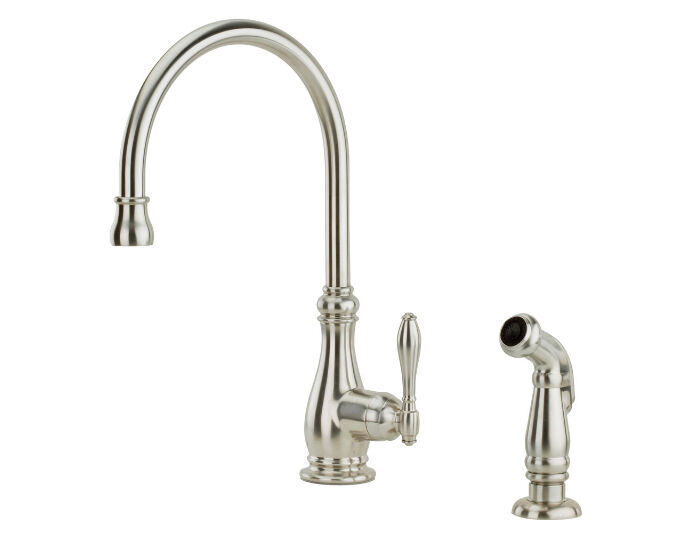 price pfister alina kitchen faucet with sidespray stainless steel